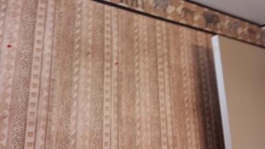 Before Bathroom...horrible wallpaper