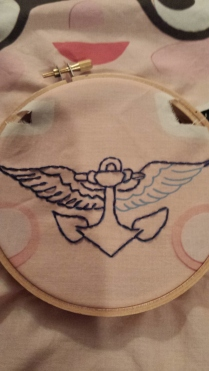 Embroidering tattoos