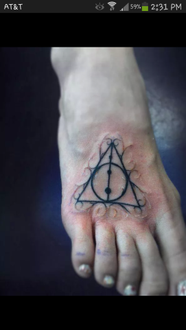 My new tattoo! Harry Potter's Deathly Hallows