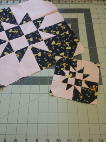 Trying out the Disappearing Hourglass block