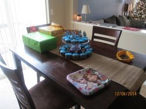 Cupcake set up