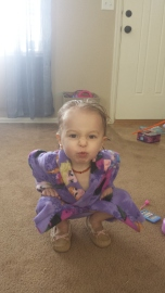 Showing off her new robe I made her