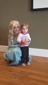 Olivia meeting Elsa at a birthday party!